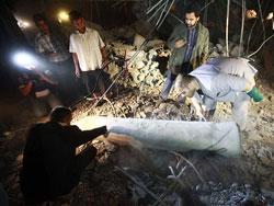 В ходе ночных авиаударов ВВС НАТО территории Ливии несколько ракет попали в виллу в Триполи, принадлежавшую Сейф аль-Арабу, сыну лидера Джамахирии Муаммара Каддафи.